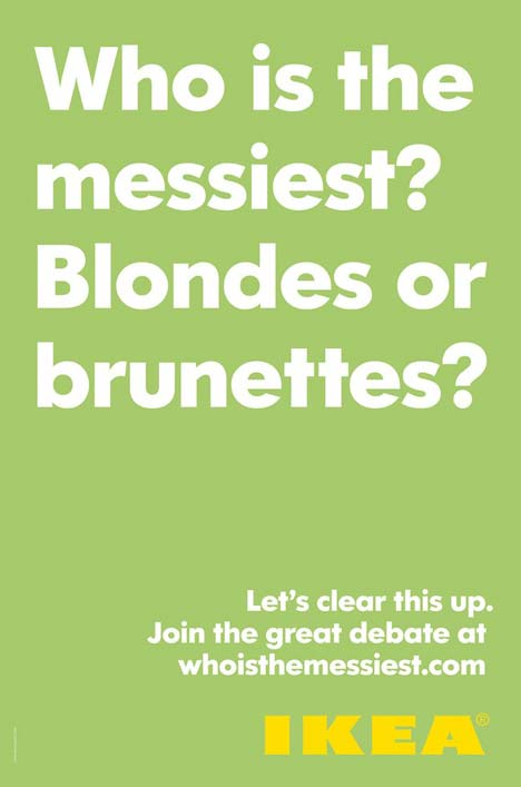 Blondes or Brunettes in IKEA ad