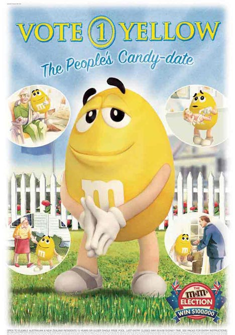 M&M Elections Vote Yellow