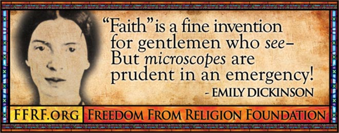 Emily Dickinson in Freedom From Religion bus advertisement