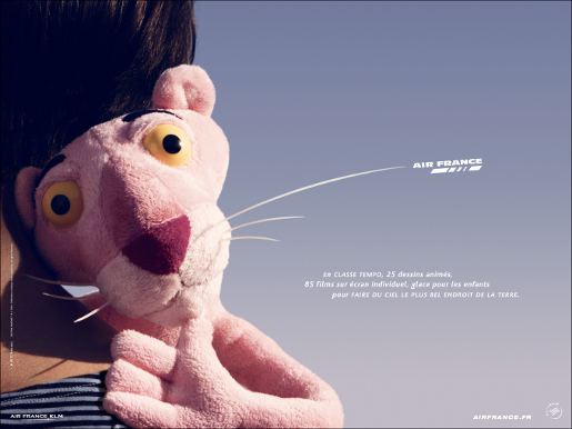 Air France Panther print advertisement
