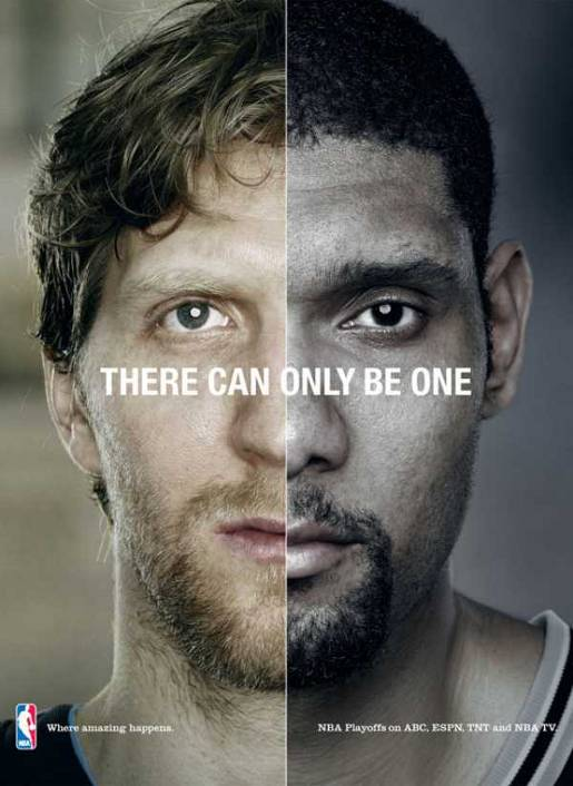 NBA Dirk and Duncan in There Can Only Be One advertisement