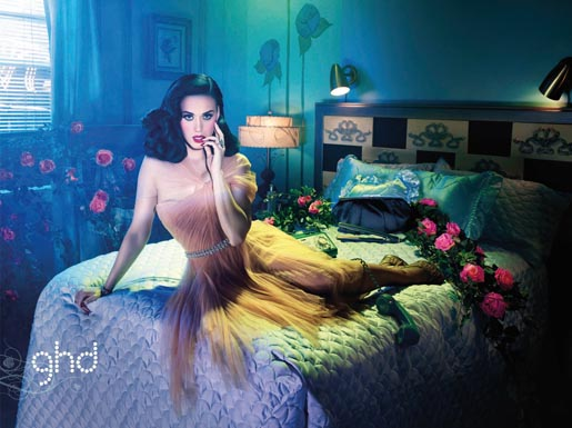 Katy Perry GHD Glamour print advertisement