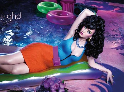 Katy Perry GHD New Wave print advertisement