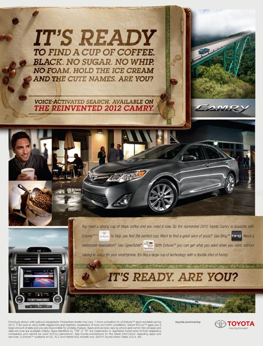 Toyota Camry Innovation print ad - male