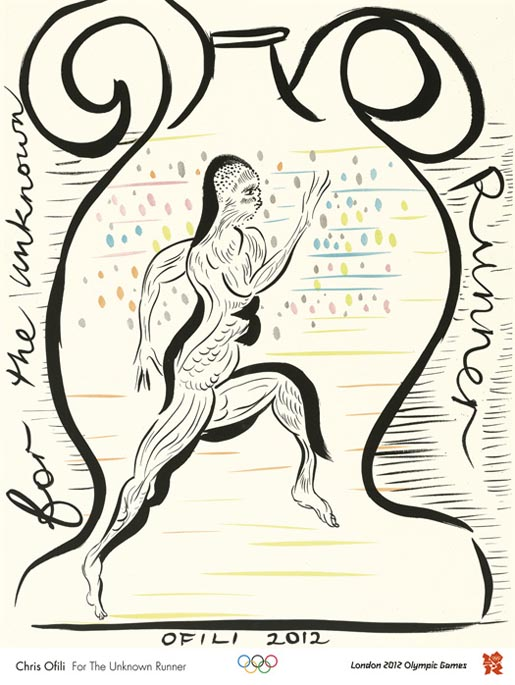 Chris Ofili - For the Unknown Runner
