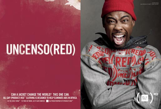 Gap Do The Red Thing - Chris Rock Uncenso(red)