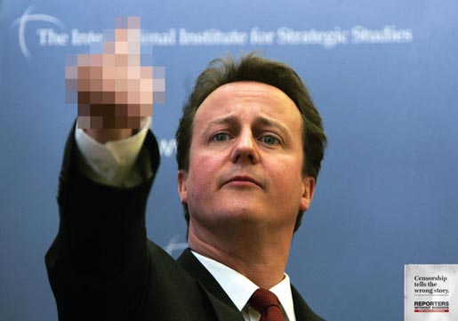 Reporters Without Borders David Cameron
