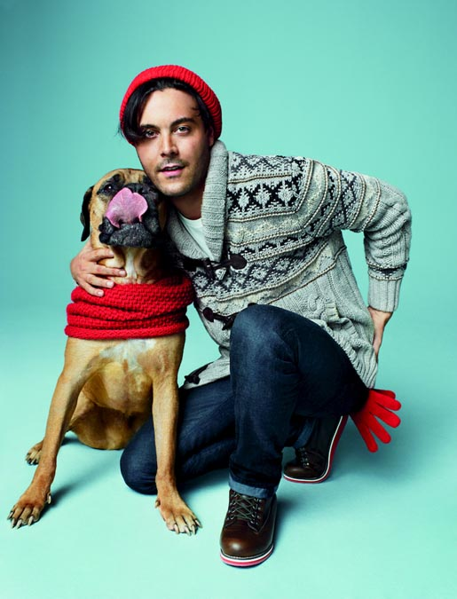 Gap Love comes in Every Shade Jack Huston and dog Orso