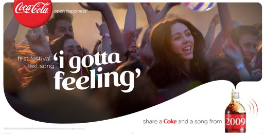 Coca Cola Share a Coke and a Song - First Festival Last Song billboard