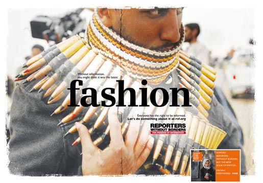 Reporters Without Borders Fashion