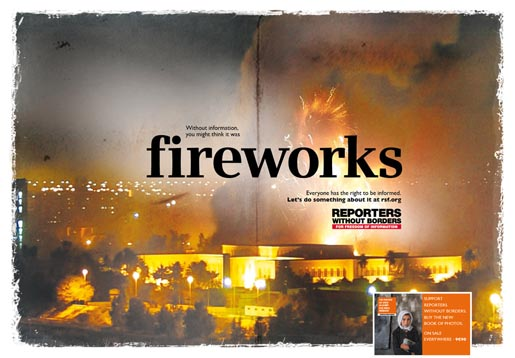 Reporters Without Borders Fireworks