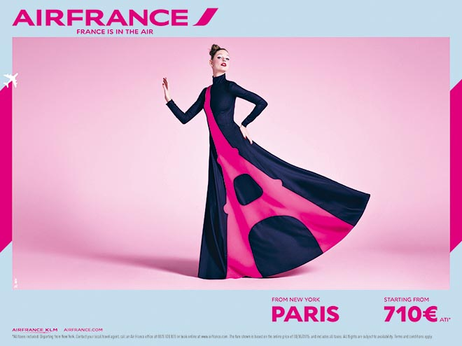 France is in the air - New York to Paris