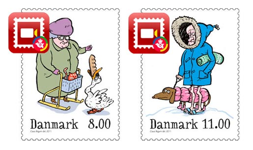 Denmark Christmas Stamps 2011