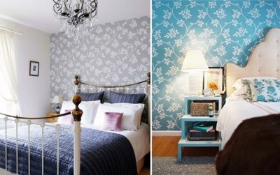 Wallpaper for the Bedroom {Behind the Bed} - The Inspired Room