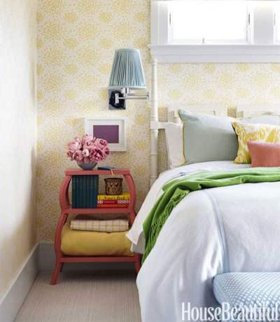 Wallpaper for the Bedroom {Behind the Bed} - The Inspired Room