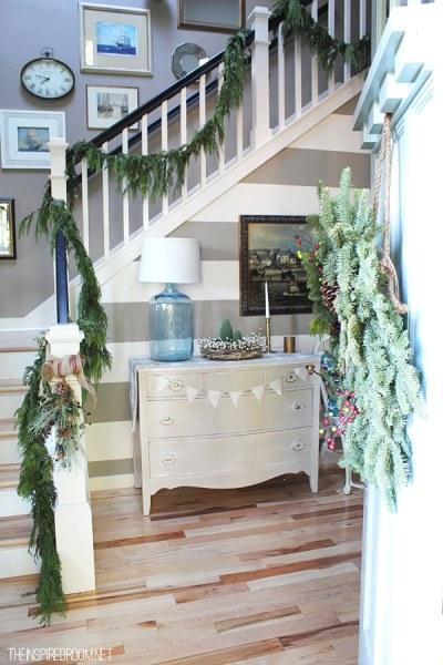 Inspired Christmas {Stairways} - The Inspired Room