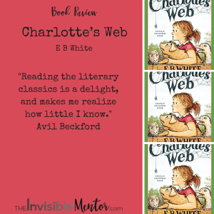 e b whites charlottes web a review essay Though best remembered for two children's books, charlotte's web (1952) and  stuart little (1945), e b white was noted during his lifetime for humorous essays  and  white's stepson angell, an editor and writer for the new yorker, describes .