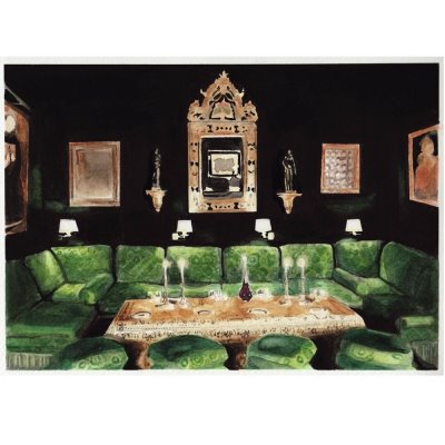green couches