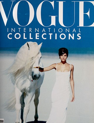 Vogue cover March 1990 Peter Lindbergh