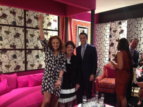 Diane von Furstenberg, NYSID Trustee Ellen Kravet and David Sprouls