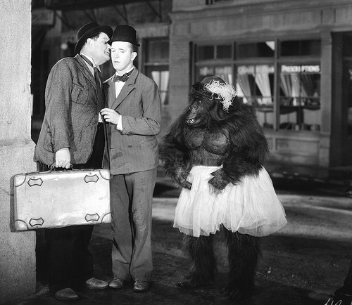 Laurel and Hardy-ape