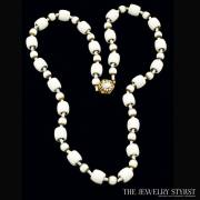 Vintage Miriam Haskell White Beaded Necklace
