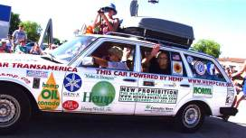 This car has traveled over 13,000 miles on strictly hemp fuel.