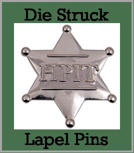 die-struck custom pins