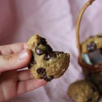 Healthy Peanut-Butter Chocolate Chip Cookies (Gluten Free, Vegan)