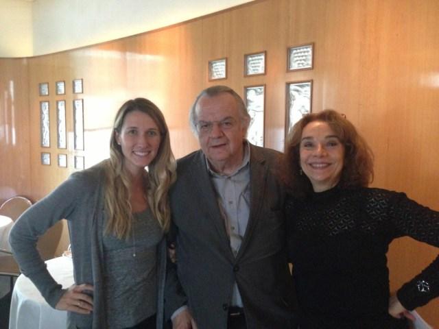 Me with Jean-Claude Ribaut and Elaine Sciolino.