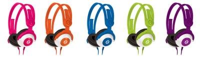 Kidz Gear Headphones Pink-Orange-Blue-Green-Purple