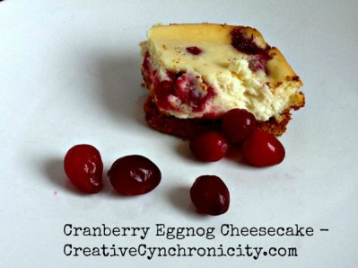 Cranberry Eggnog Cheesecake (12 Days Of Christmas Desserts)