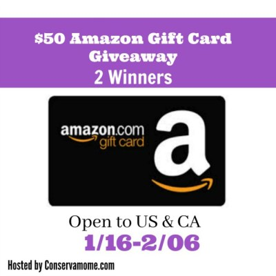 $50 Amazon Gift Card Giveaway With TWO Winners