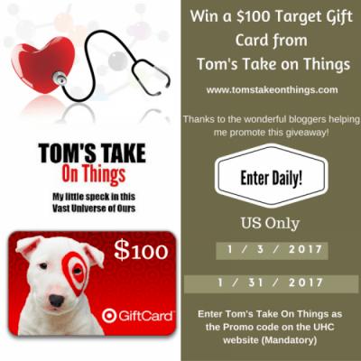 UnitedHealthcare $100 Target Gift Card Giveaway