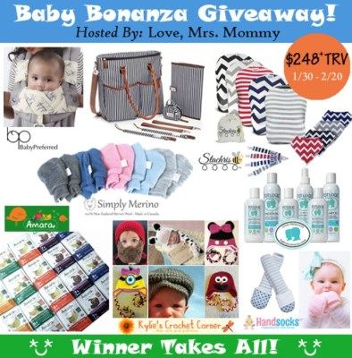 Baby Bonanza Giveaway Featuring Seven Companies