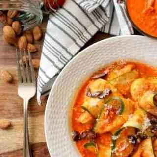 Zucchini Ribbons Romesco