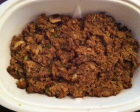 Sausage and Challah Bread Stuffing