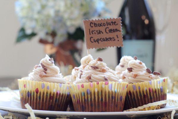 Chocolate Irish Cream Cupcakes
