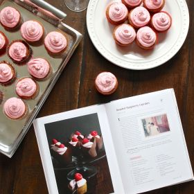 Roasted Raspberry Cupcakes from the Grandbaby Cakes Cookbook {plus a BIG giveaway}