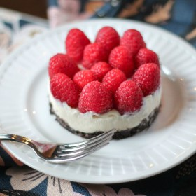 No Bake Vanilla Raspberry Cheesecake Recipe
