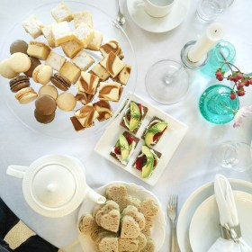 Traditional Afternoon Tea and Cucumber Sandwiches