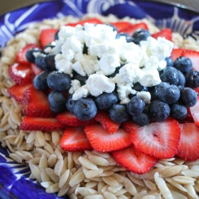 Red, White, and Blue Orzo Salad