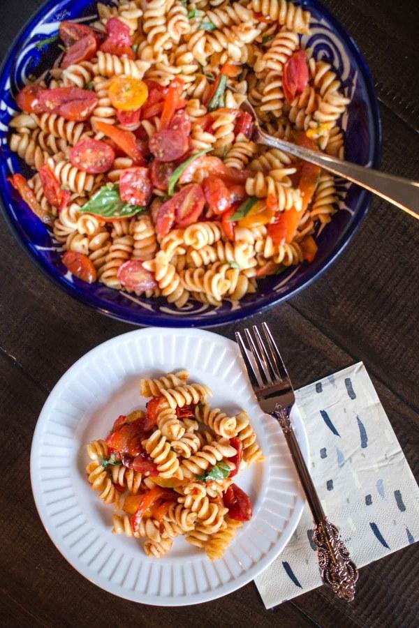 Roasted Tomato Pasta Salad-4