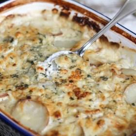Blue Cheese Potatoes Au Gratin