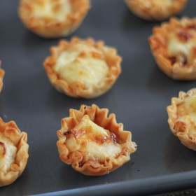 Honey, Fig, and Brie Phyllo Cups and Helping Honey Bees