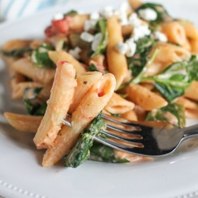 Easy Goat Cheese and Vegetable Pasta with O Organics®
