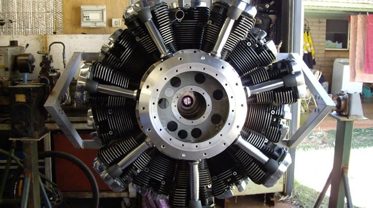 Exclusive First Look at Yamaha Based 14 Cylinder Radial Engine Project