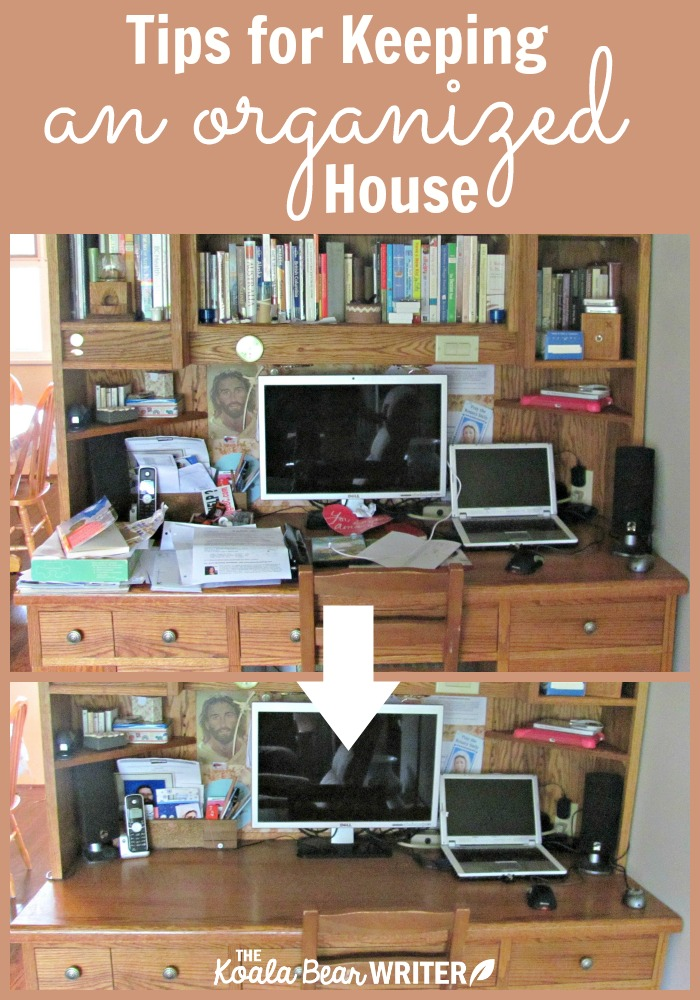 Tips for keeping an organized house the koala mom - Tips to keep your house more organized ...