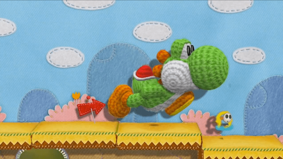 Yoshi Enters The World Of Yarn On Wii U