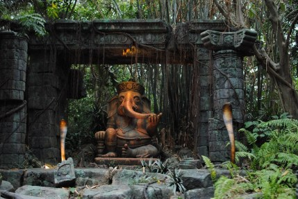 Jungle Cruise Elephant Statue t Hong Kong Disneyland